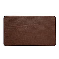 tapis de série cobblestone 20x36 pouces, brun