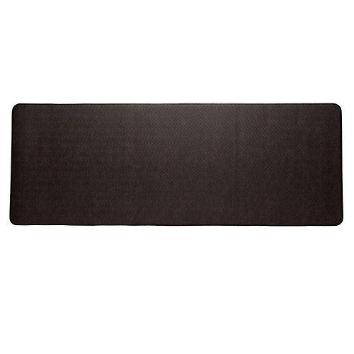 aire tapis de série cobblestone 26x72 pouces, espresso