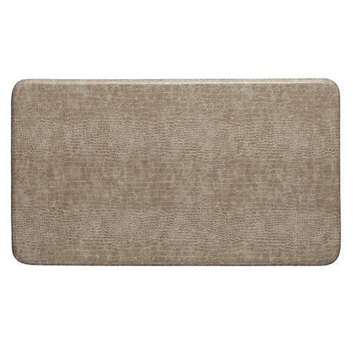 tapis de série crocodile motif, 20x36 pouces, gris clair