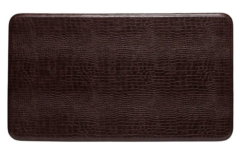 Large Croco Series New Island Area 26 Inches x 48 Inches Cajun Toffee