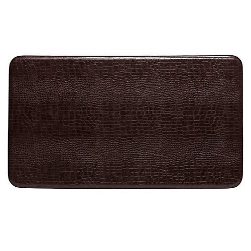 aire tapis de série crocodile motif, 26x48 pouces, brun