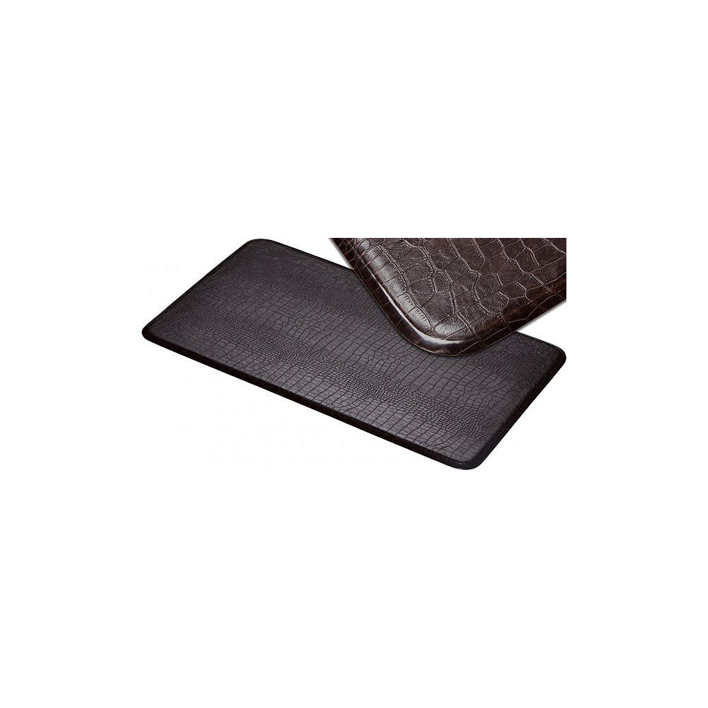 Imprint Comfort Mats Large Croco Series New Island Area Runner 26 Inches x 72 Inches Cajun Toffee