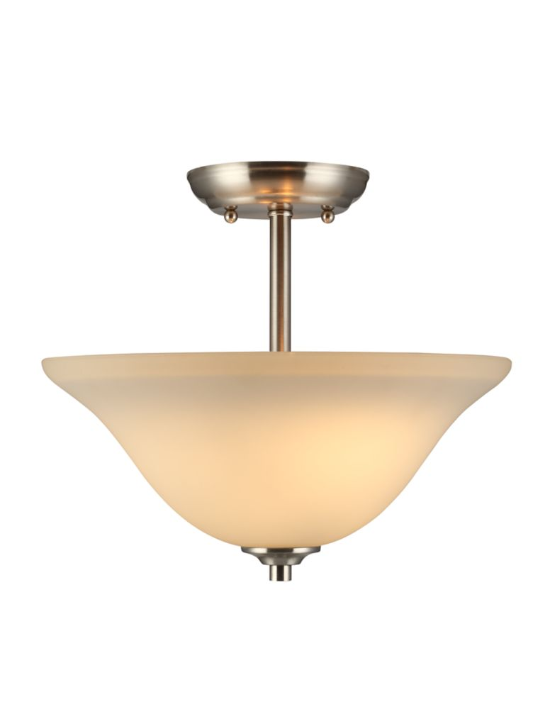 commercial electric 2 light semi flush mount the home