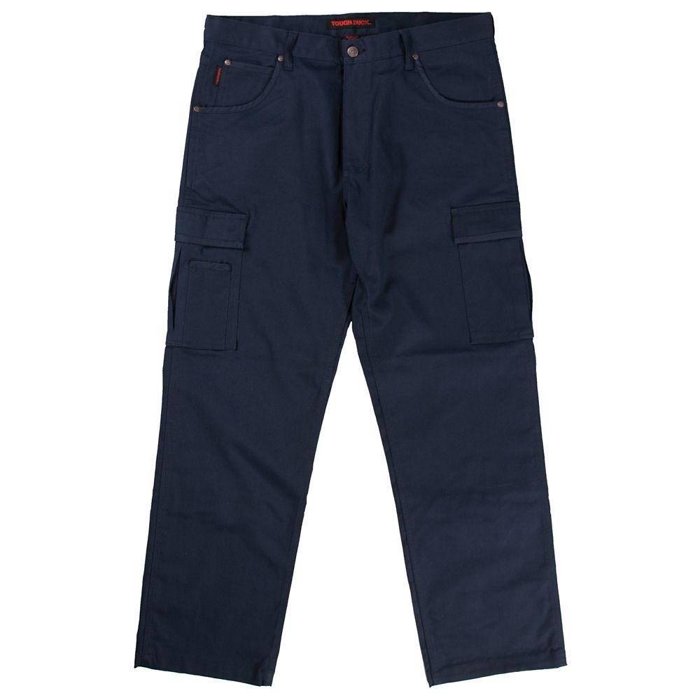 Stretch Twill Cargo Work Pant Navy 44W X 32L