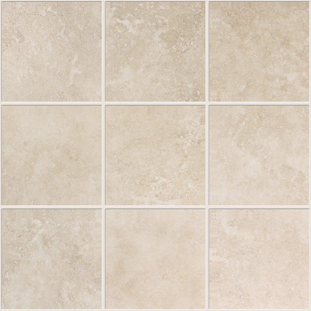 4-inch x 4-inch Ceramic Mosaic Tile in Ivory