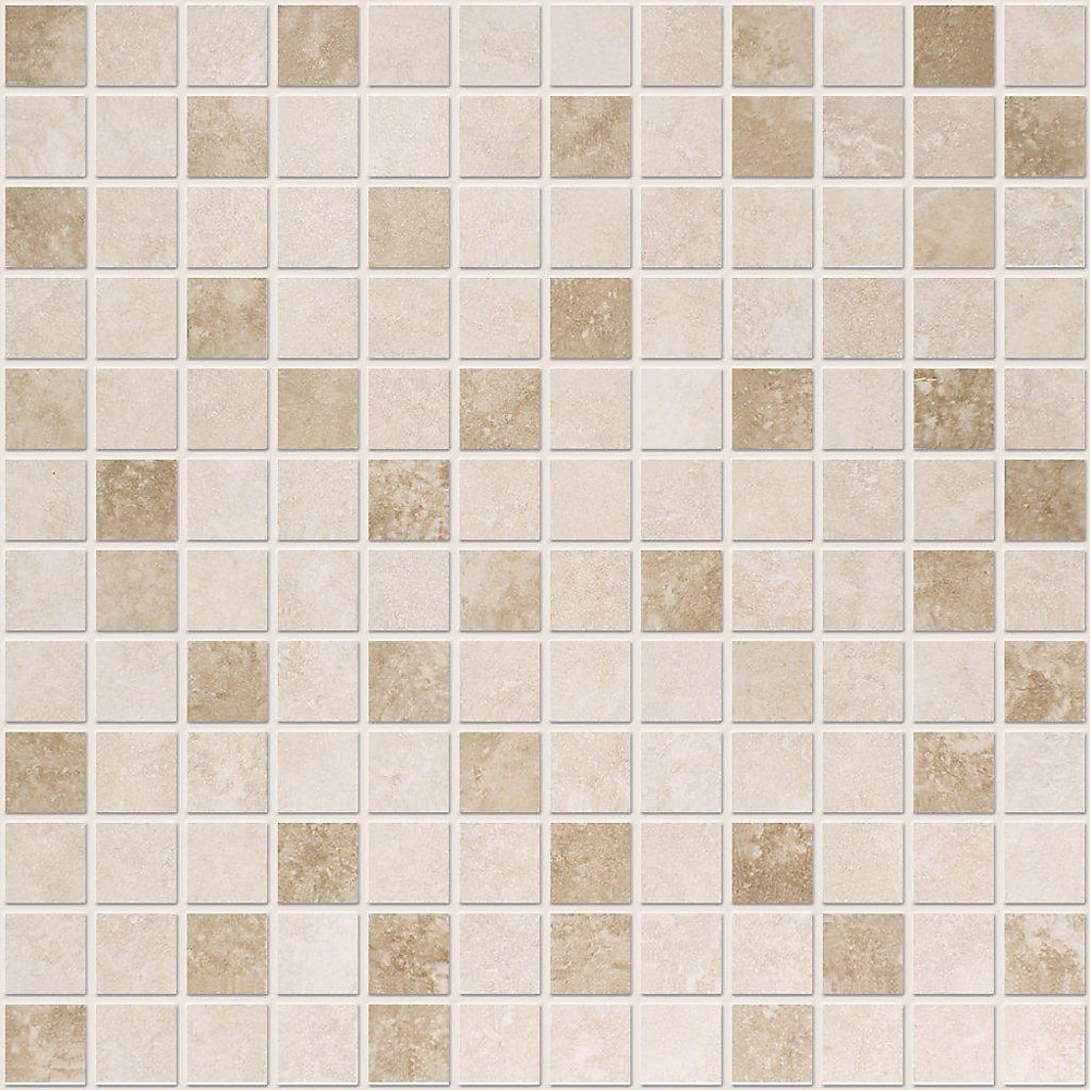 Noce Ceramic 1-inch x 1-inch Mosaic Tile in Ivory