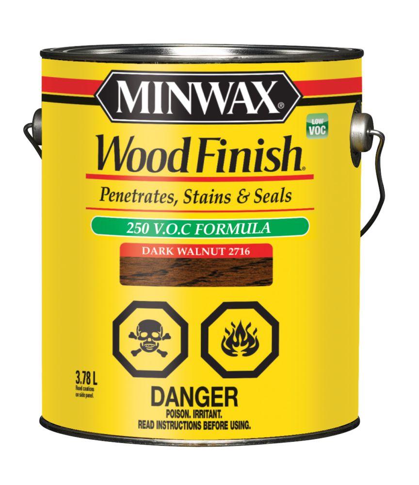 Wood Finish - LOW VOC 3.78L, Dark Walnut