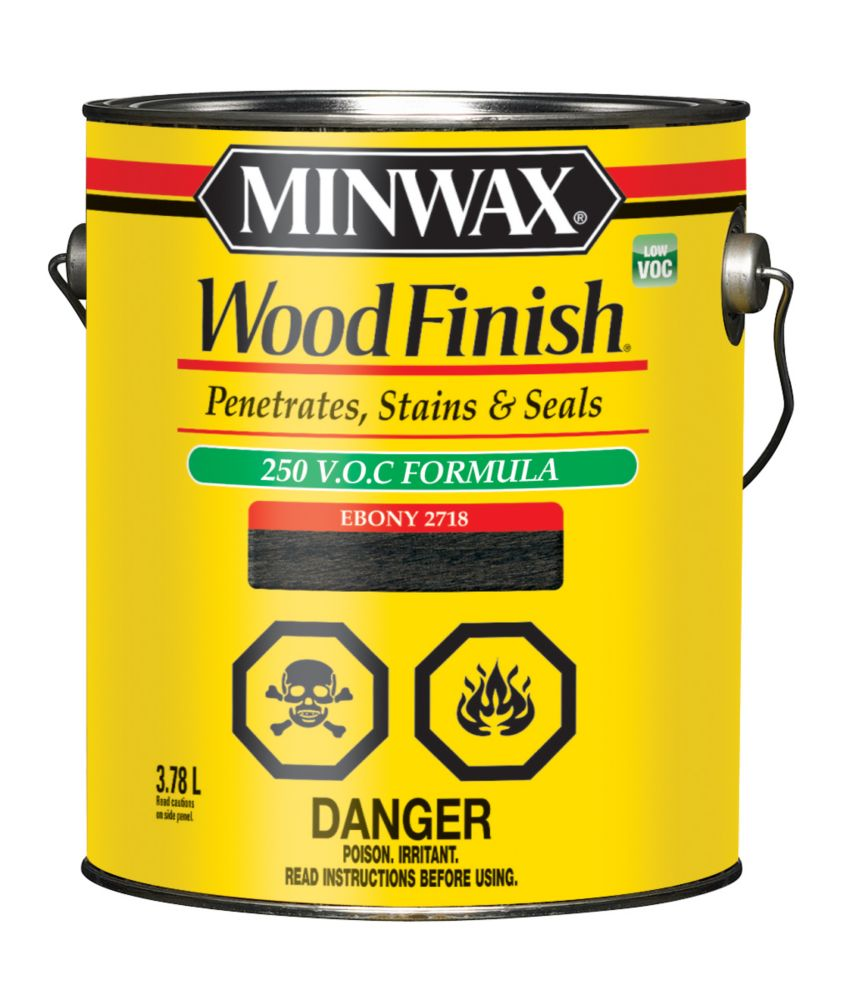 Wood Finish - LOW VOC 3.78L, Ebony