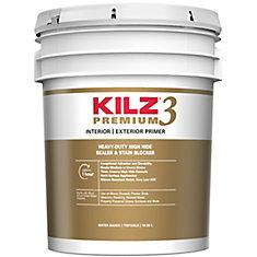 KILZ Premium Apprêt, Bouche-Pores, Bloque-Taches Intérieur/Extérieur- 18,9 L
