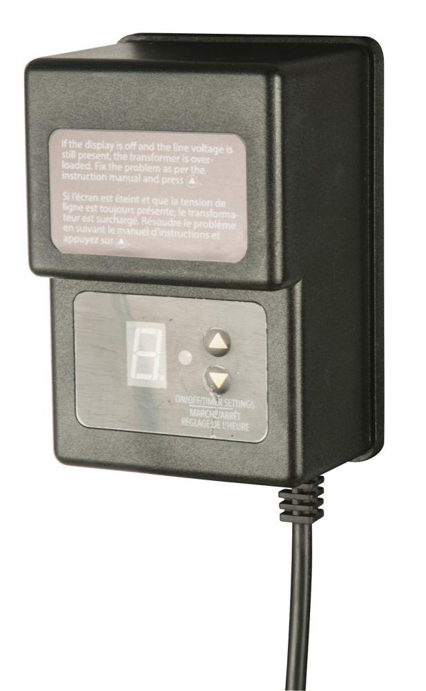 Hampton Bay 12volt 45 Watt Transformer With Digital Timer