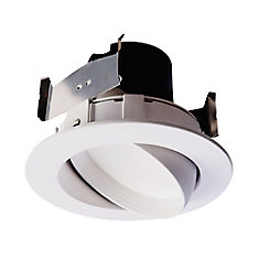 4 in LED Adj.Gimbal White Baffle and Trim Ring - ENERGY STAR ®