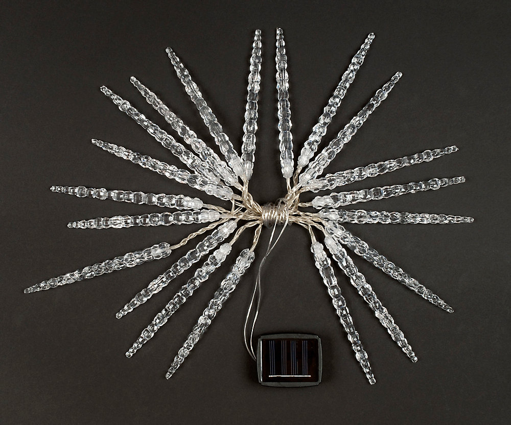 Solar Icicle String Lights