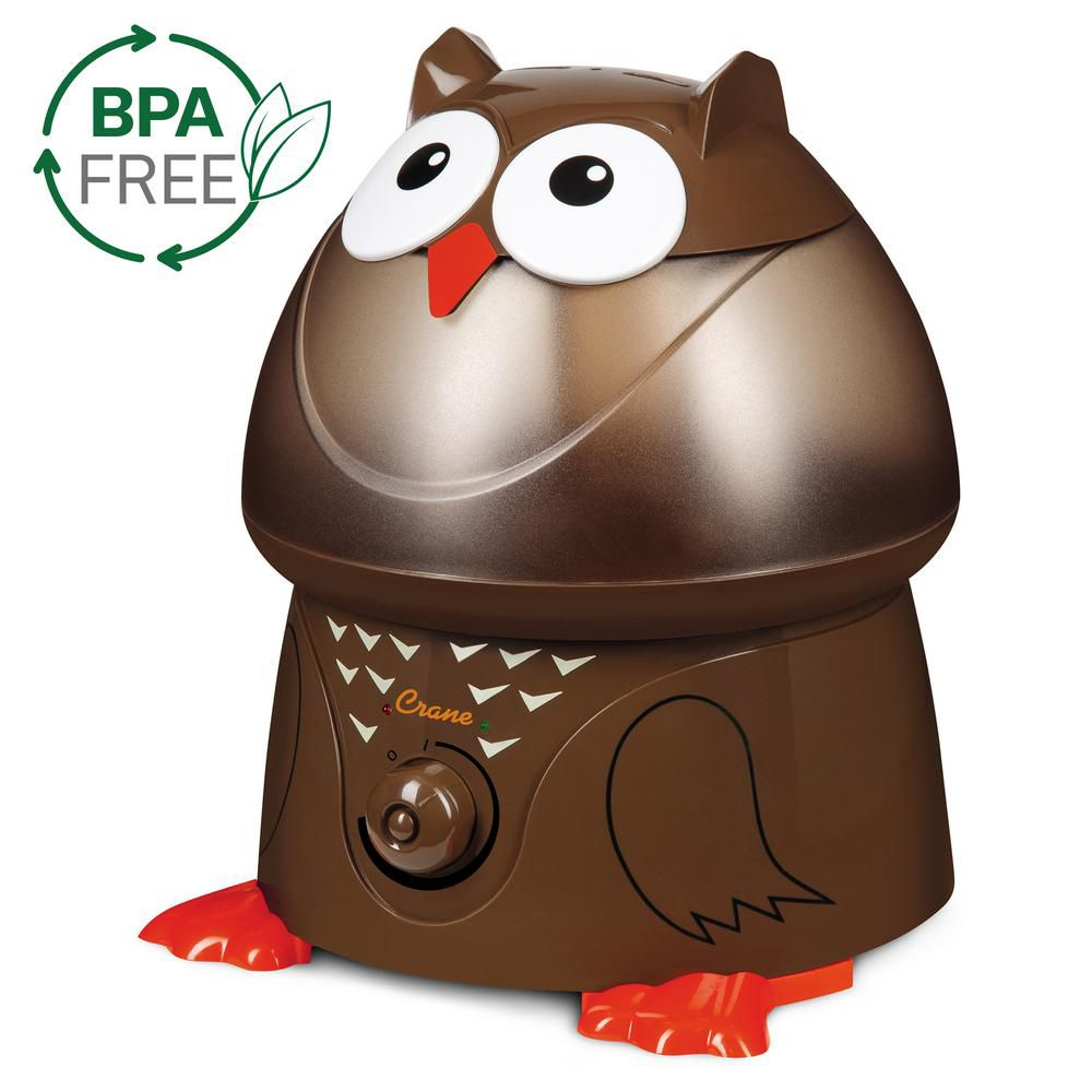 Crane Ultrasonic Cool Mist Humidifier, Owl