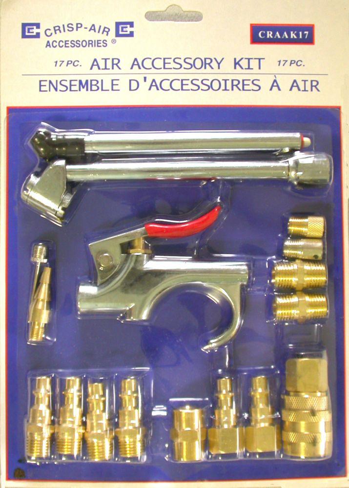 Kit daccessoires pneumatiques 17 pièces