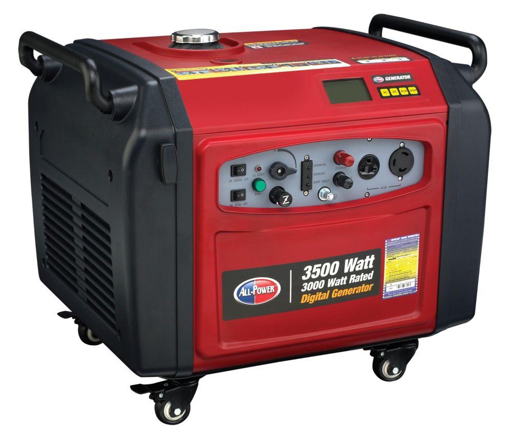 All Power America 3500 Watt Peak Digital Inverter Generator - Electric Push Start and Parallel Capability