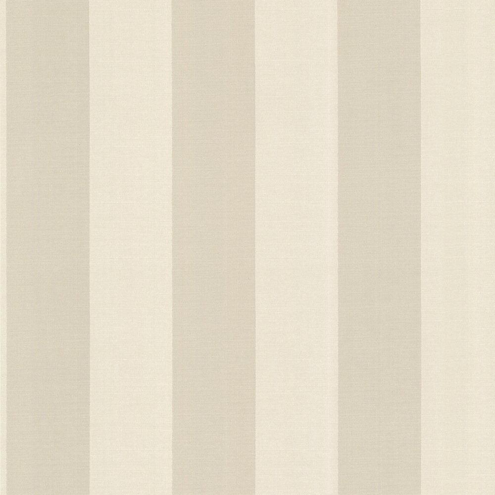 20.5 In. W Beige Venetian Silk Stripe Wallpaper