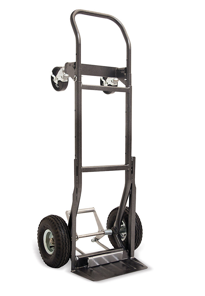 800Lb 5-N-1 Convertible, Extendable Hand Truck With Loadkicker