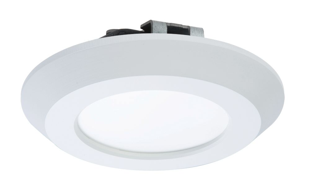 halo 4 inch led recessed surface white disk light the home depot