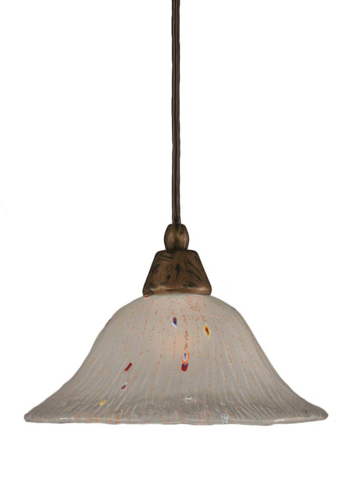 Concord 1 Light Ceiling Bronze Incandescent Pendant with a Frosted Crystal Glass