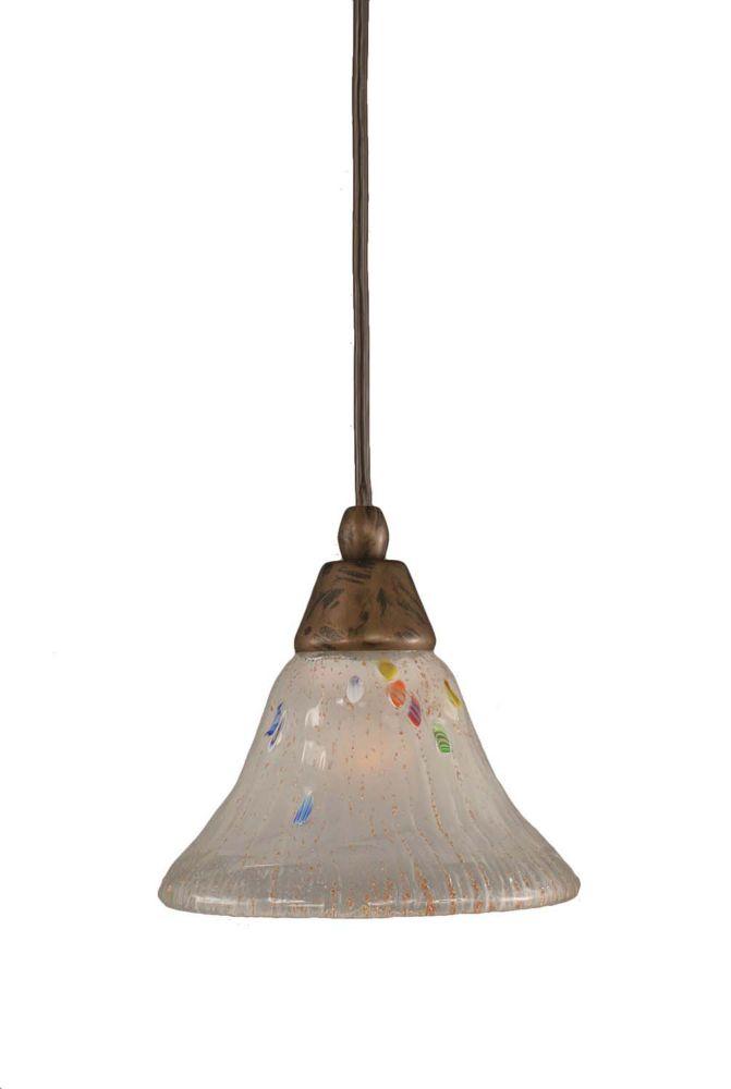 Concord 1 lumière au plafond Bronze Pendeloque incandescence par une Frosted Crystal