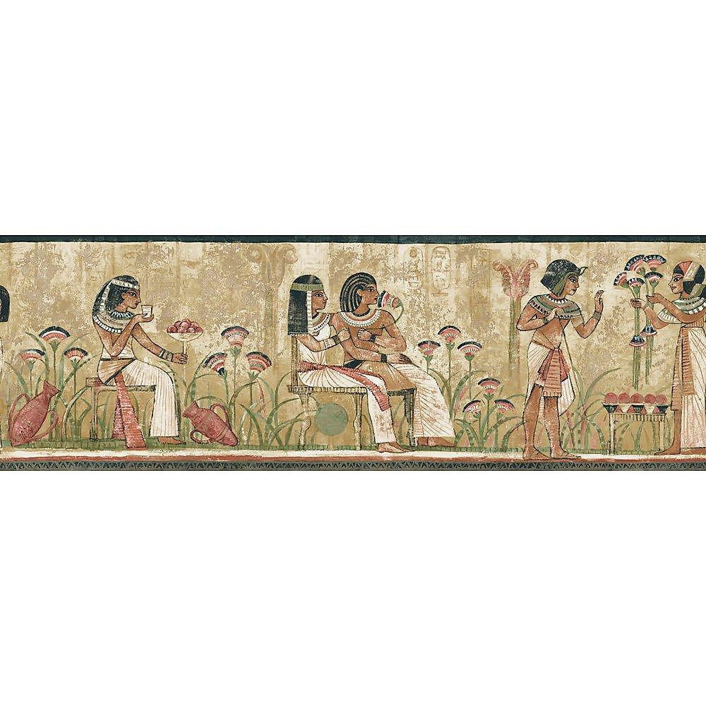 6.8 In. H Earth Tone Egyptian Border