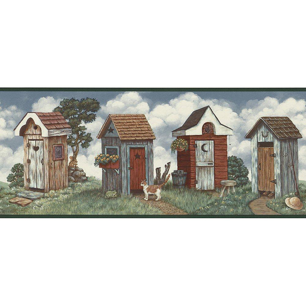 10.25 In. H Multi Colored Outhouse Border