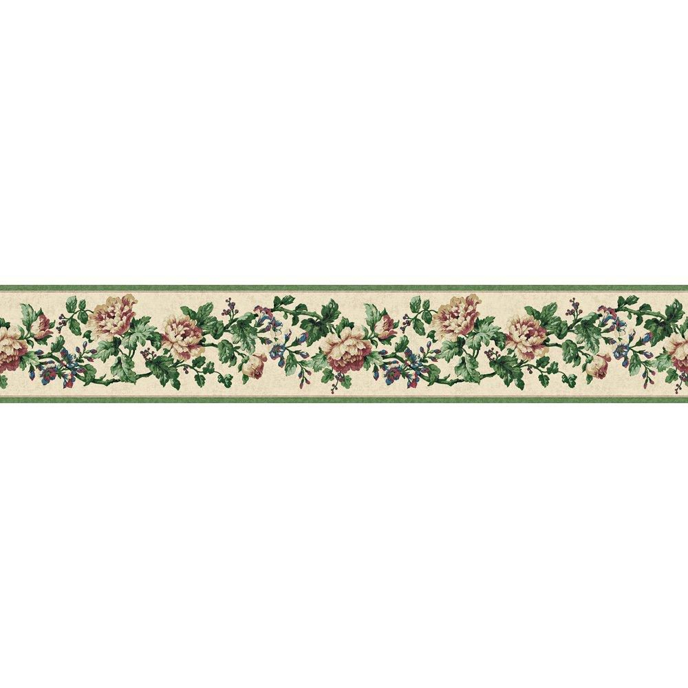 The wallpaper company in h green jewel tone floral for Wallpaper company home depot