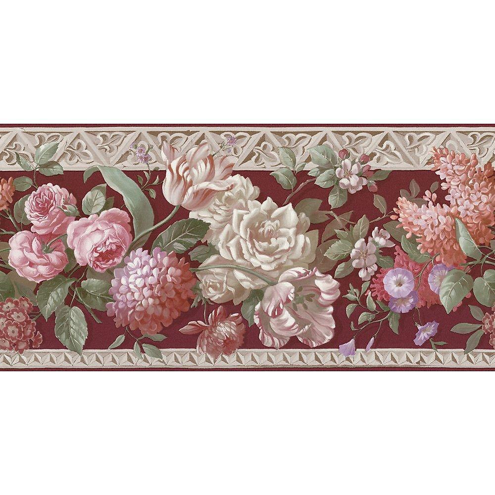 10.25 In. H Multi Color Rose Border
