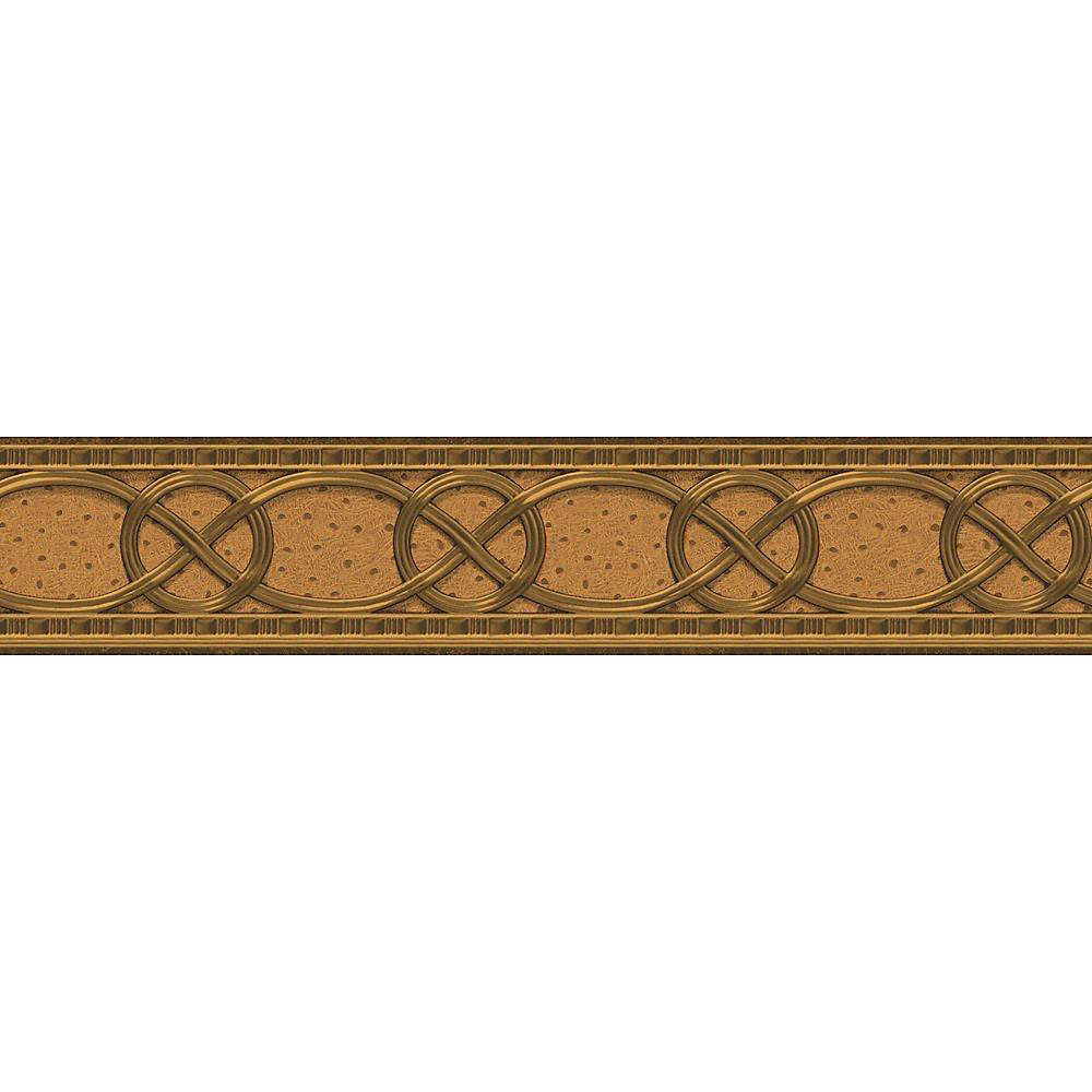 4.1 In. H Burnished Gold Classical Braid Border