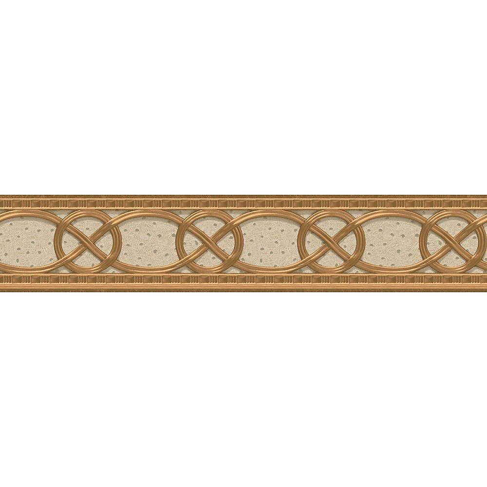 4.1 In. H Ivory and Gold Classical Braid Border