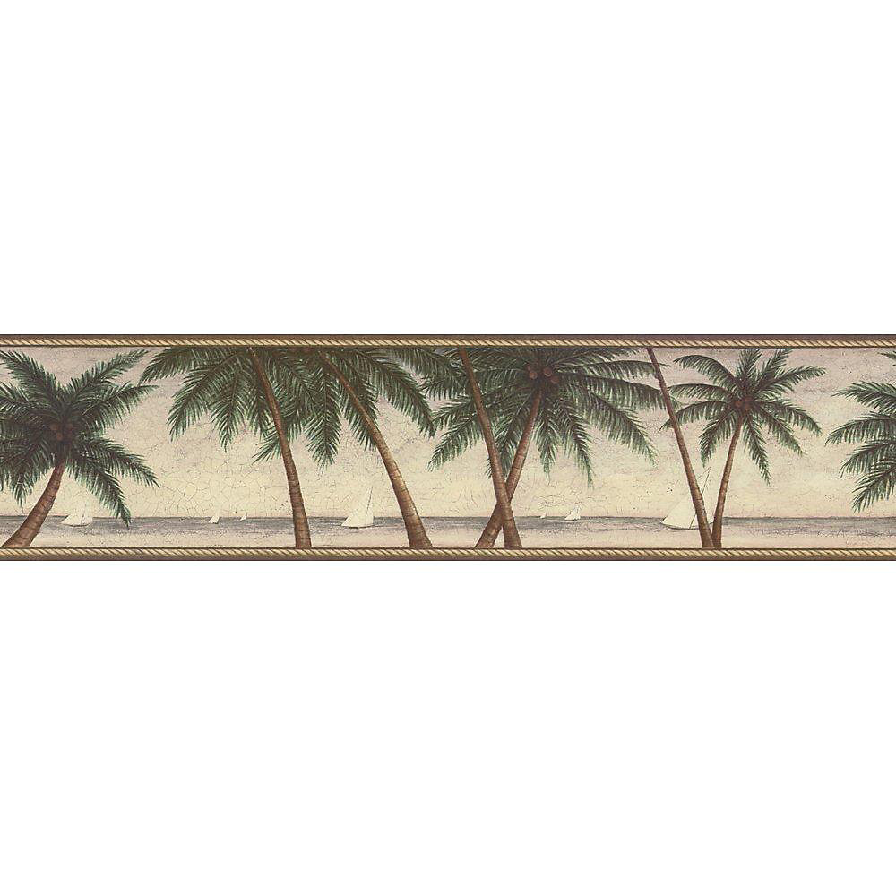 6.3 In. H Green Palm Tree Border