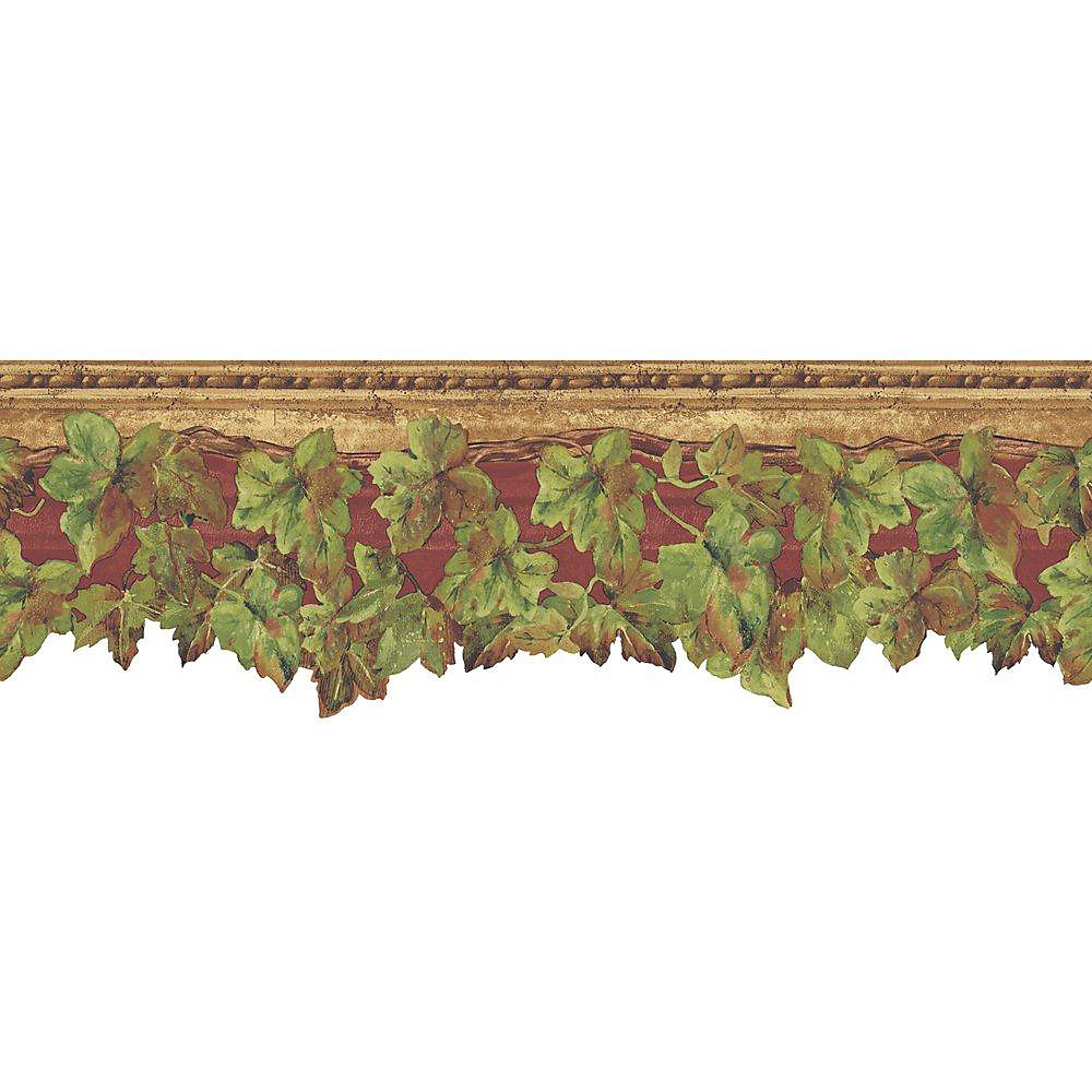 6.5 In. H Red and Green English Ivy Border