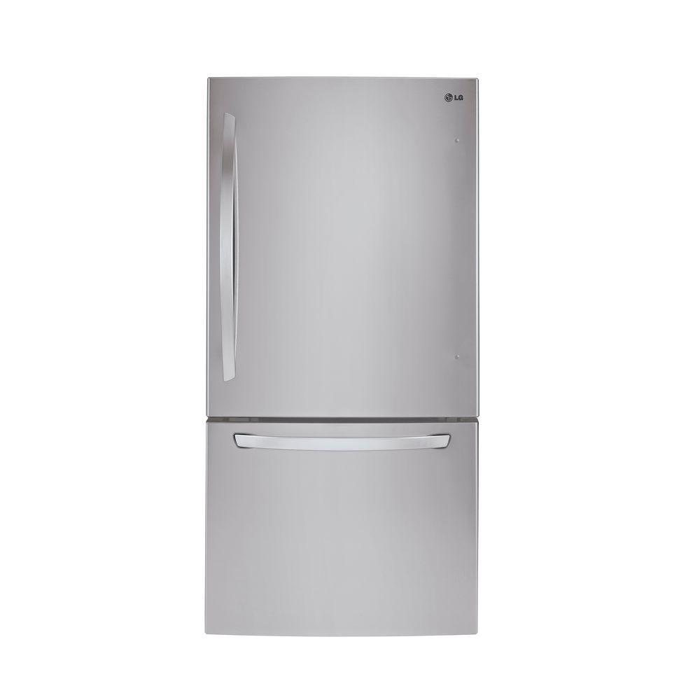 Réfrigérateur de 33 po, 24 pi.cube avec congélateur en bas doté d'un tiroir coulissant avec refro...