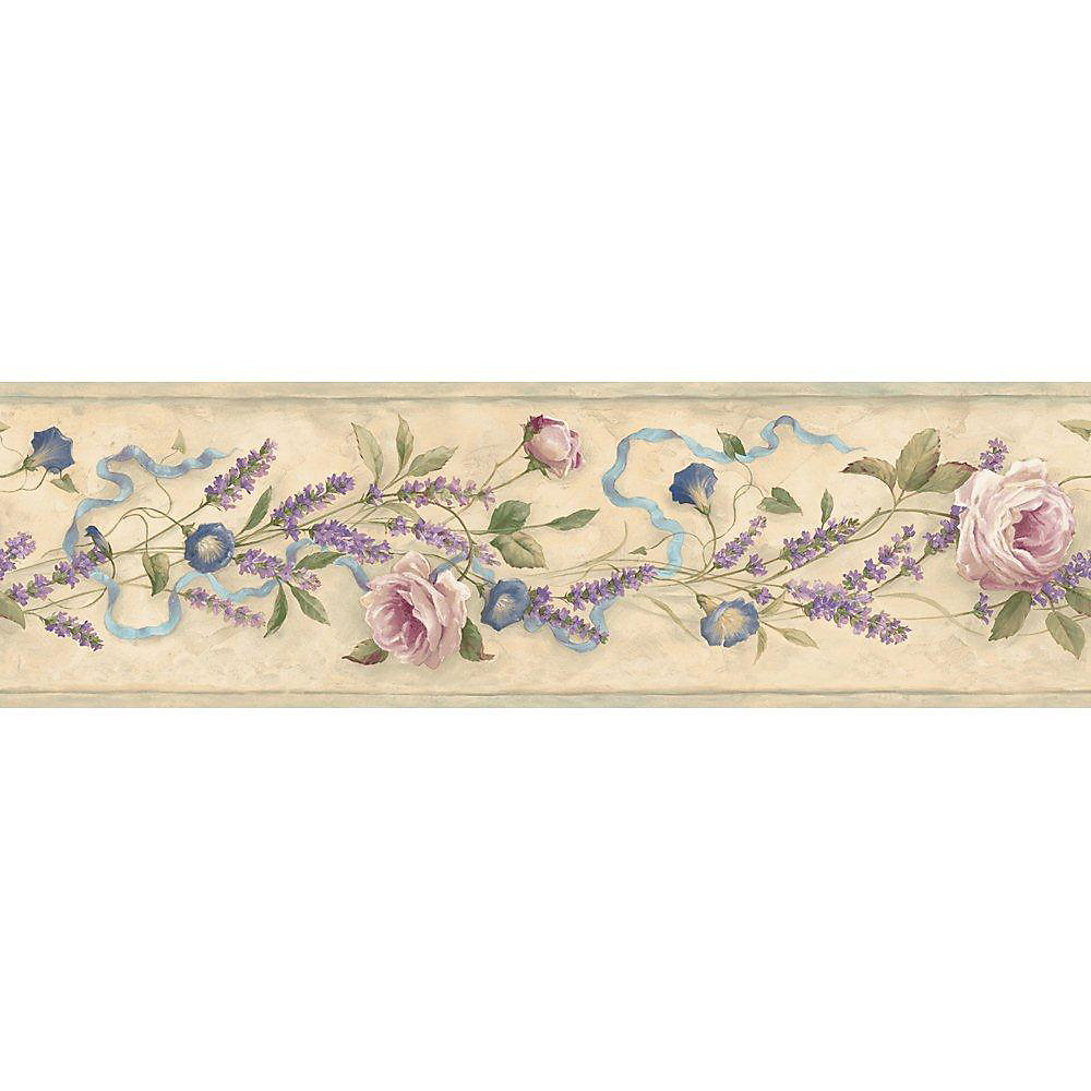 6.13 In. H Pastel Floral Trail Border