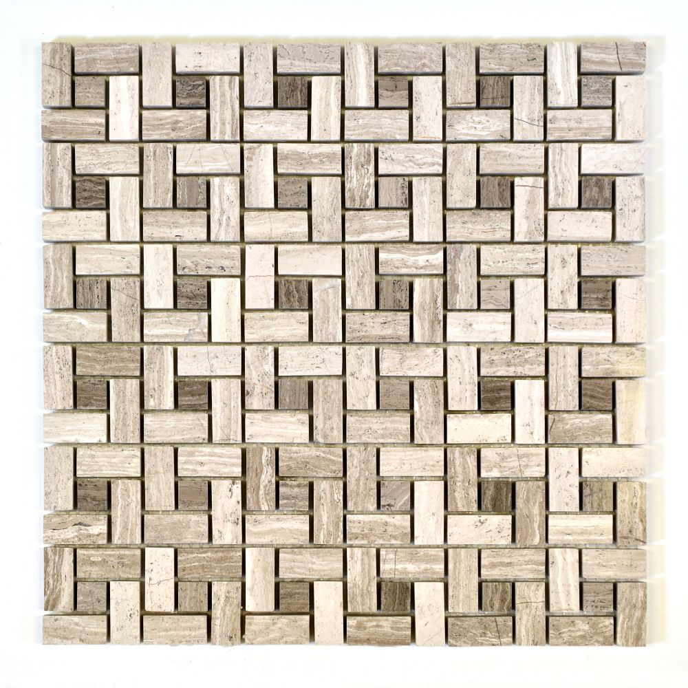 Polished Troy Wooden White Limestone Mosaic YUSSPMS200 Canada Discount