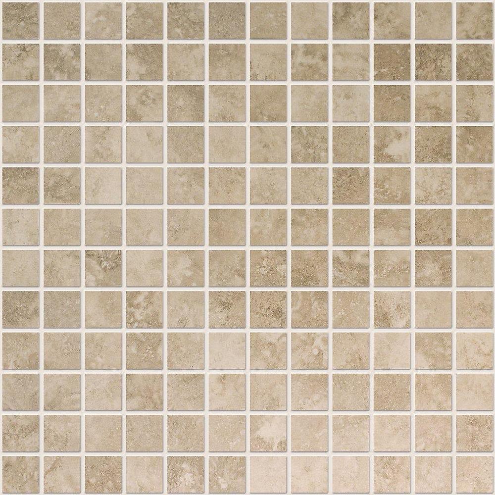 Noce Ceramic 1-inch x 1-inch Mosaic Tile