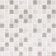 SG09 Mix 4 mm Glass Blend Wall Tile in White