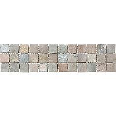 3-Inch x 12-Inch Copper Slate Listello Tile