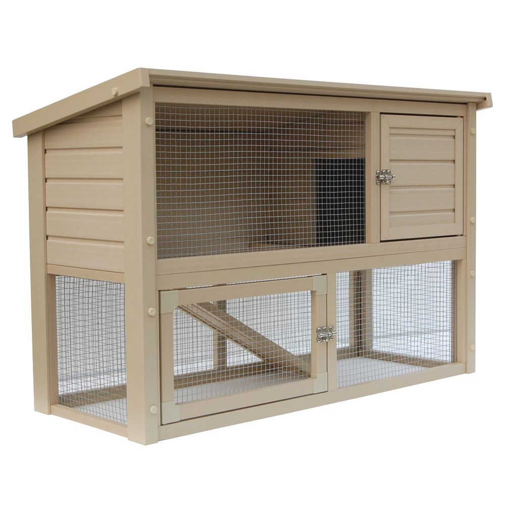 shop hutch run trixie wheeled two product en natura rabbit sloped story roof petco petcostore right with