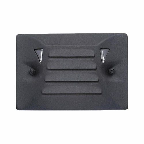 Hampton Bay Low-Voltage Black Outdoor Integrated LED Half Brick Deck or Step Light