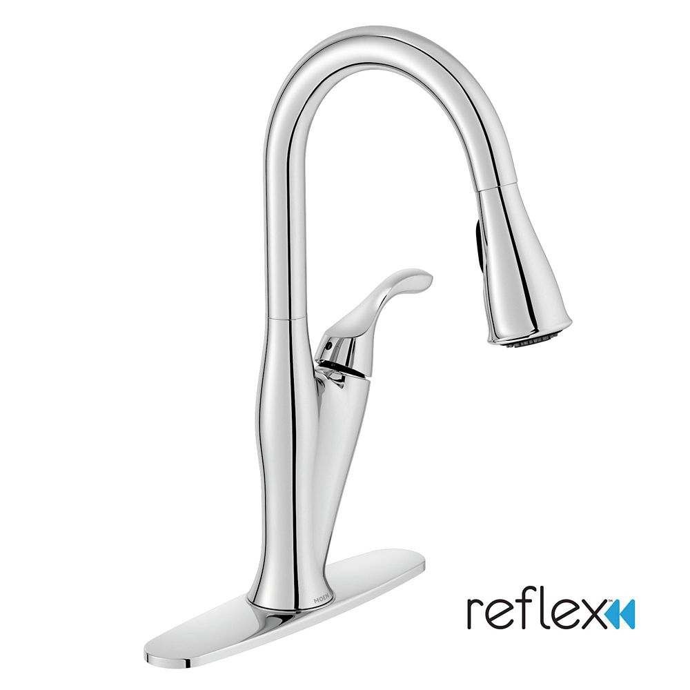 Benton 1 Handle Kitchen Faucet with Matching Pulldown Wand - Chrome Finish
