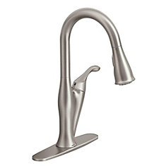 Benton Single Handle Pull Down Sprayer Kitchen Faucet In Spot Resist  Stainless Steel