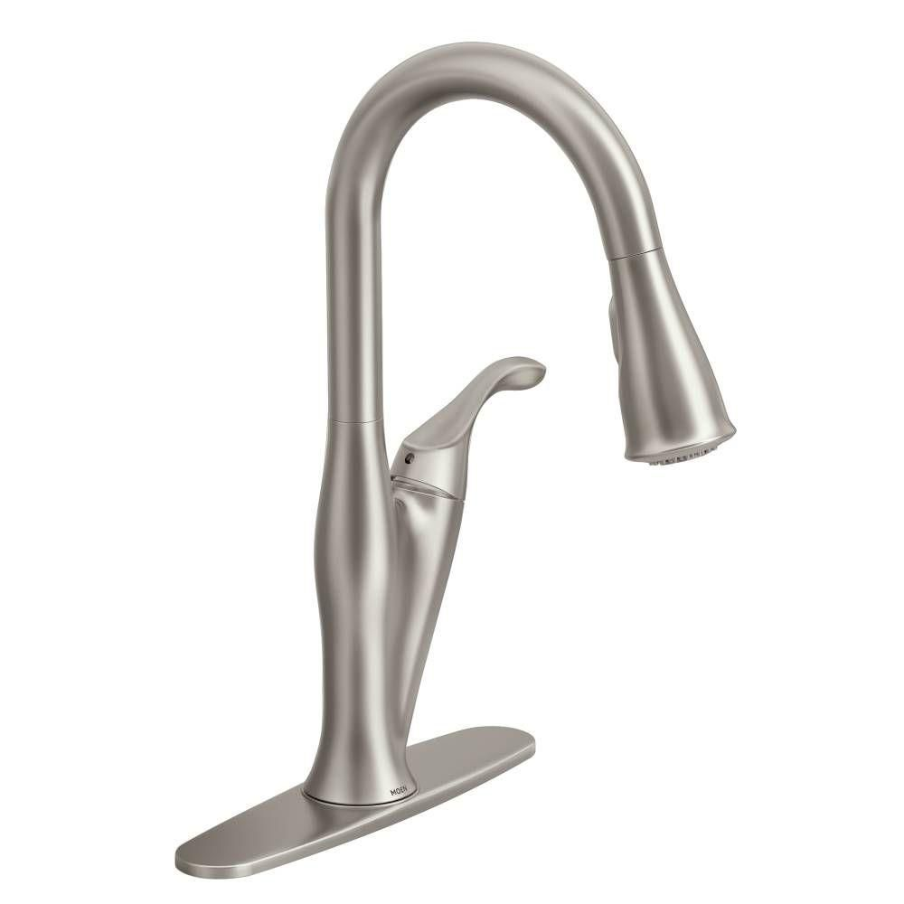 Benton 1 Handle Kitchen Faucet with Matching Pulldown Wand - Spot Resist Stainless Finish