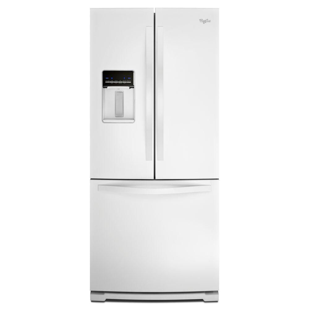 19.7 cu. ft. French Door Refrigerator with Exterior Water Dispenser in White