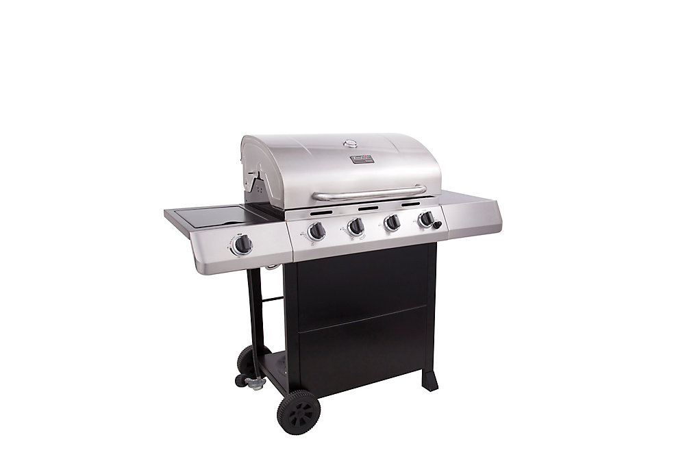 Classic C-453 4 Burner 50,000 BTU Stainless Steel Gas Grill with Side Burner