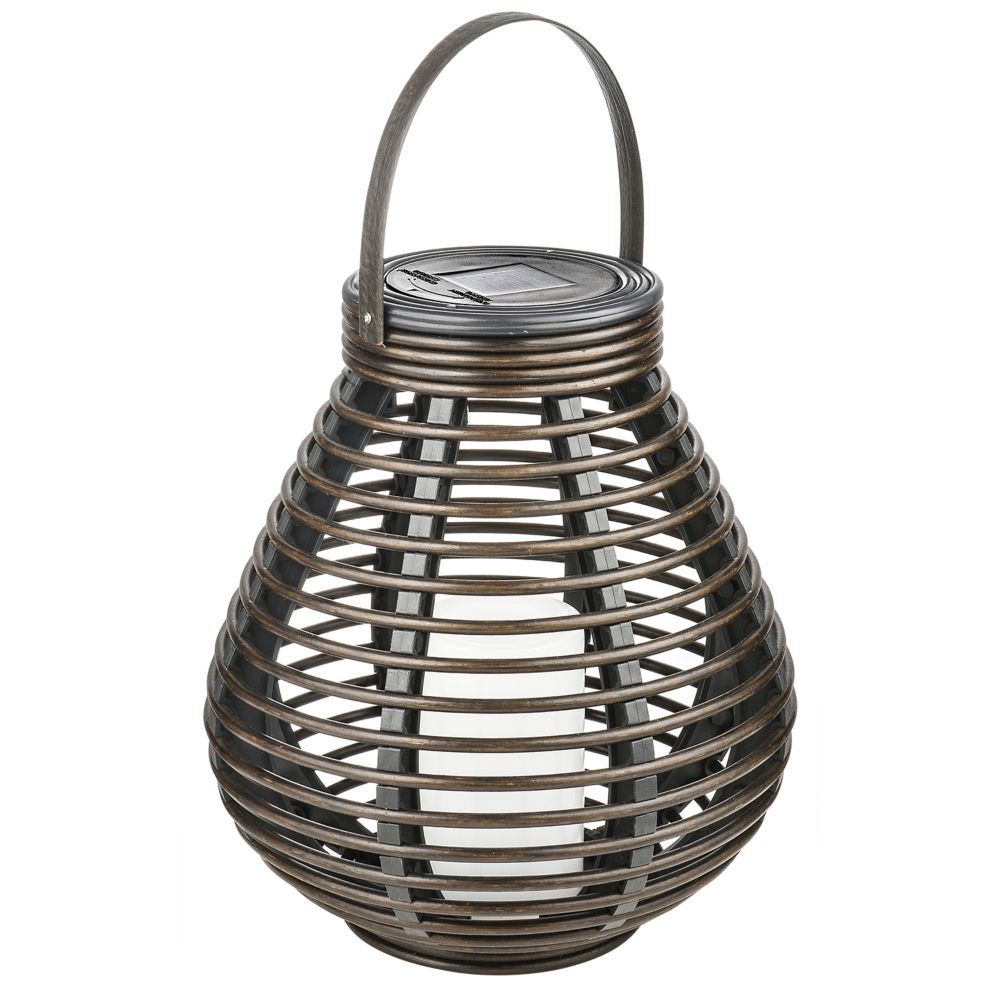 Solar Wicker Tabletop or Patio Lantern