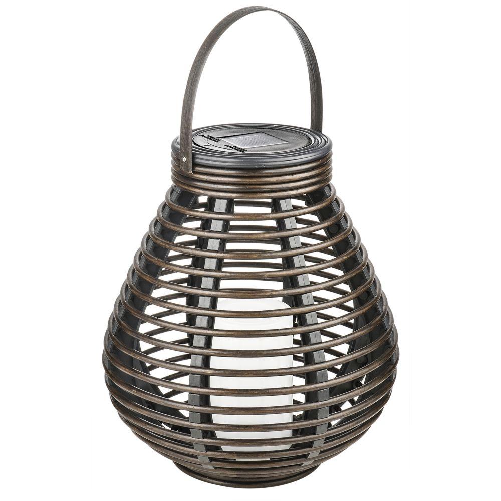 Solar Wicker Tabletop or Patio Lantern
