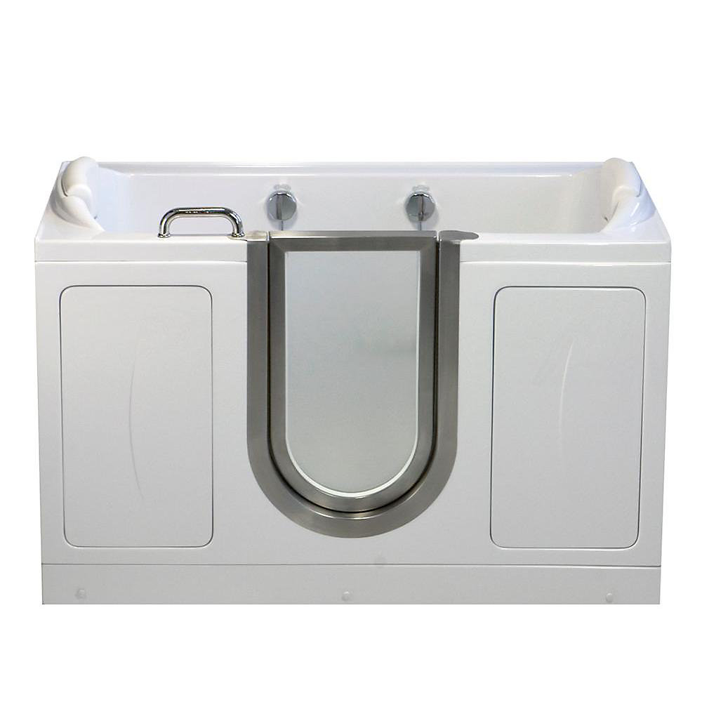 Companion 5 Feet 2-Seat Walk-In Non Whirlpool Bathtub in White