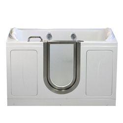 Ella Companion 5 Feet 2-Seat Walk-In Non Whirlpool Bathtub in White