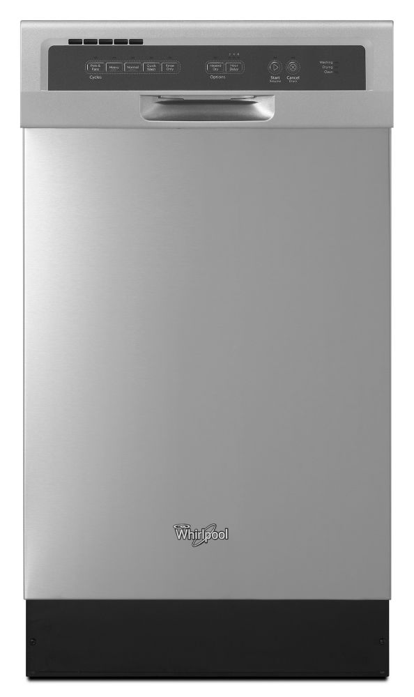 Whirlpool 18 Inch Compact Tall Tub Dishwasher In Mono